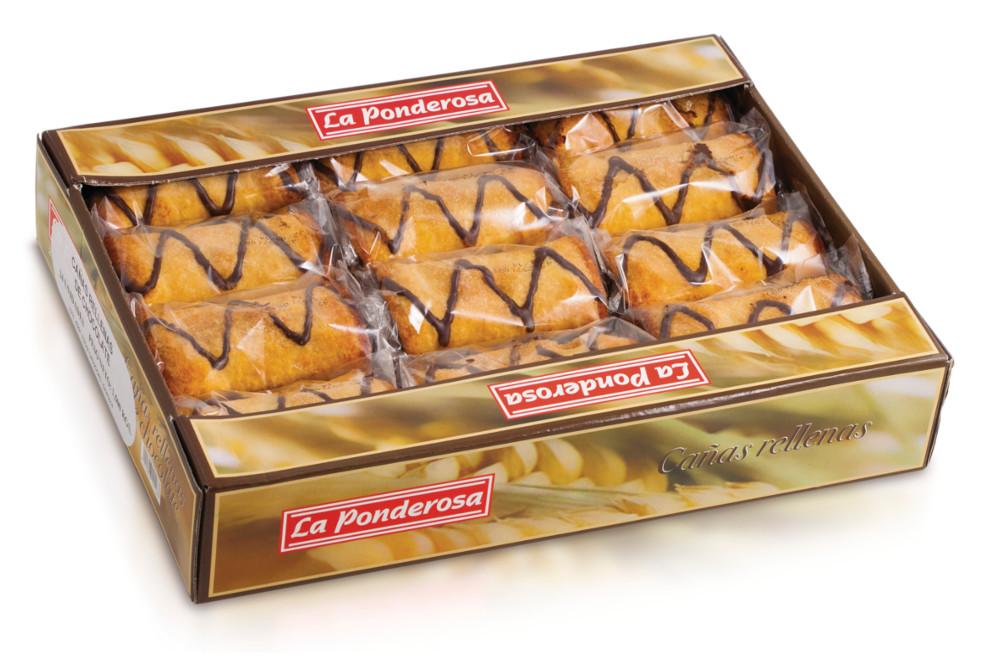 Cañas rellenas de chocolate Dulces Proyectos